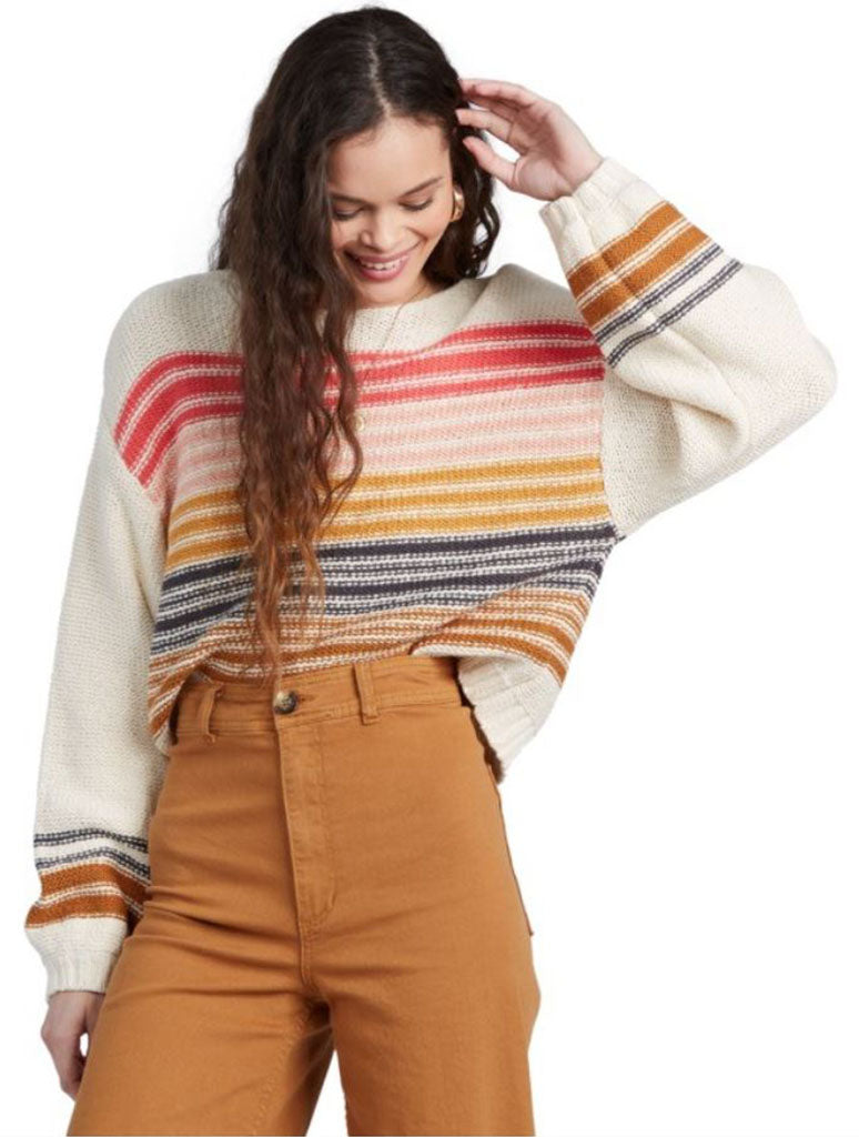 Billabong Seeing Stripes Sweater in Gold Dust
