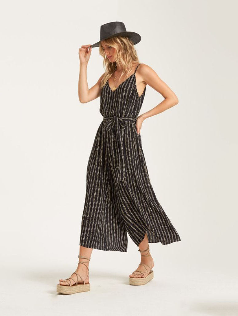 Billabong Shake It Again Jumpsuit in Black