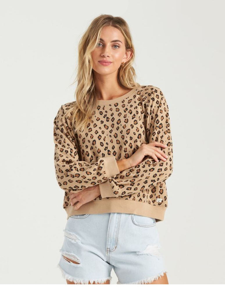 Billabong Sun Shrunk Sweatshirt in Animal