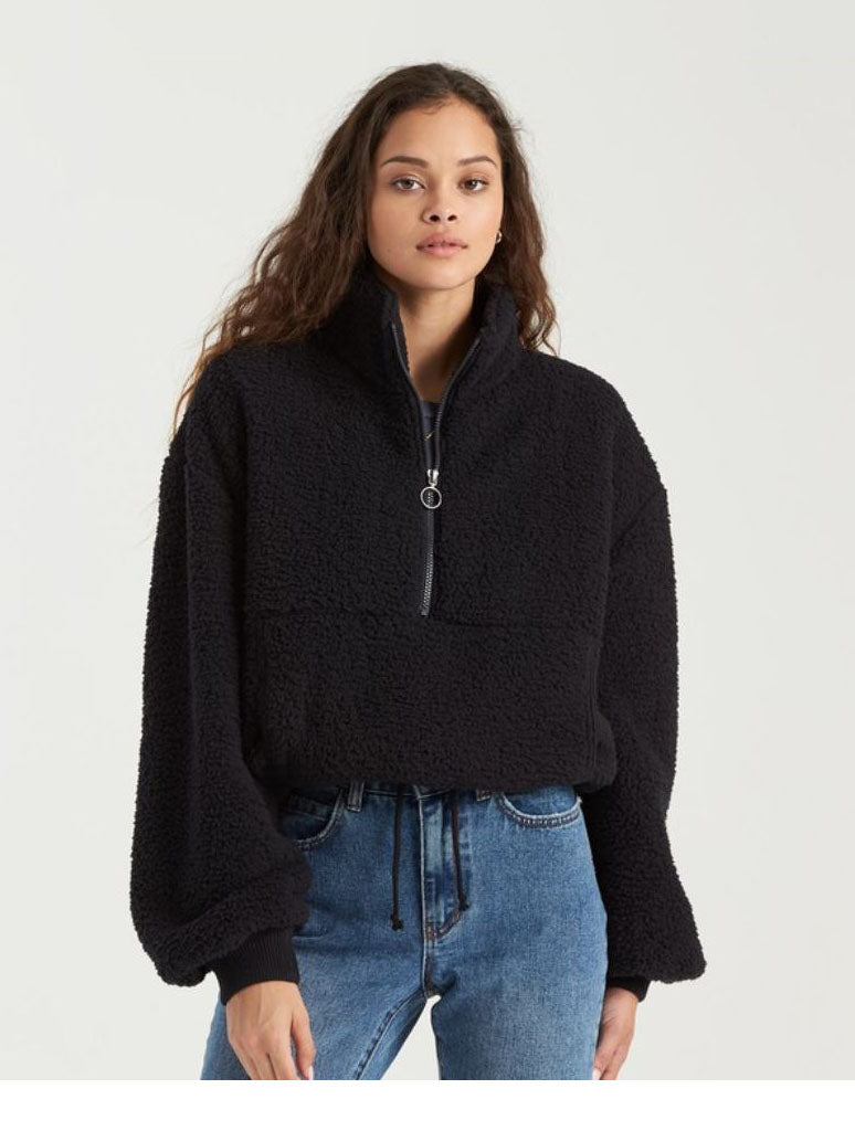 Billabong Time Off Fleece Jacket in Black