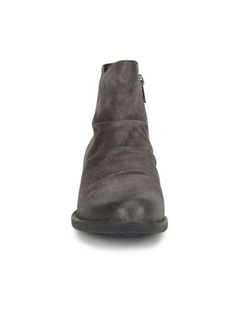 Born Falco Ruched Bootie in Dark Grey