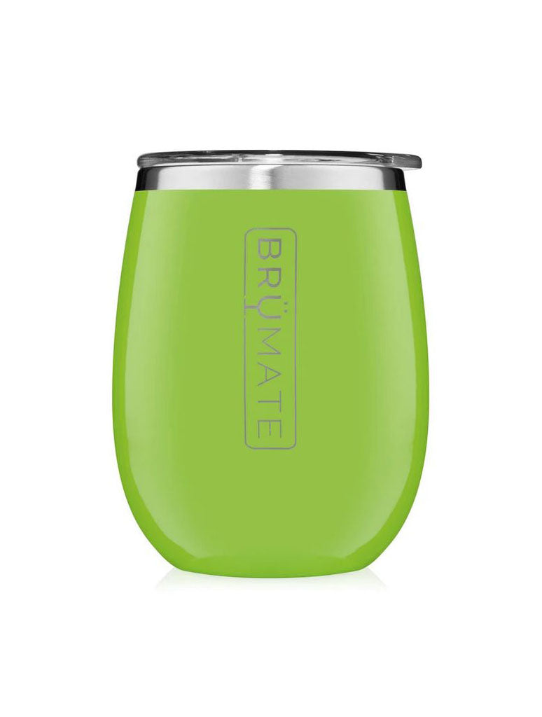 BrüMate Wine Tumbler in Electric Green