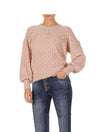 Elan Bubble Sweater in Blush