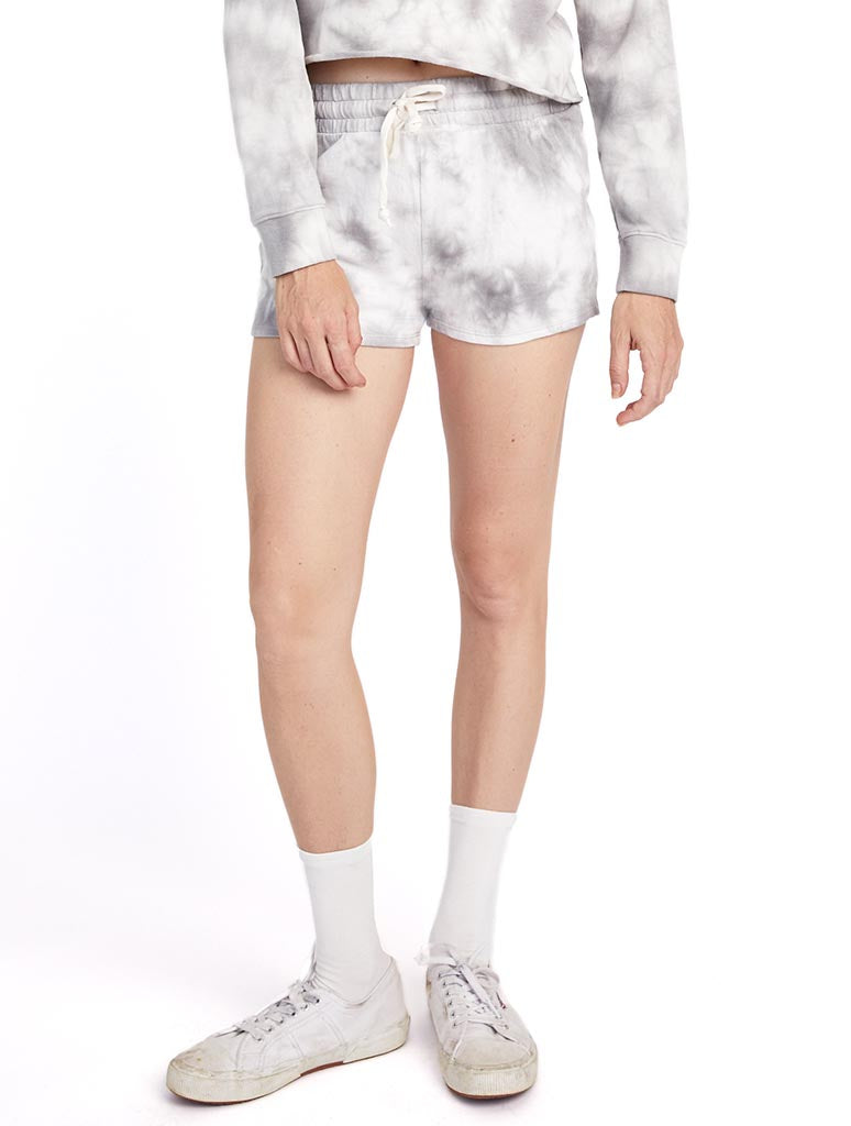 Alternative Apparel Cozy Short in Grey Tie Dye