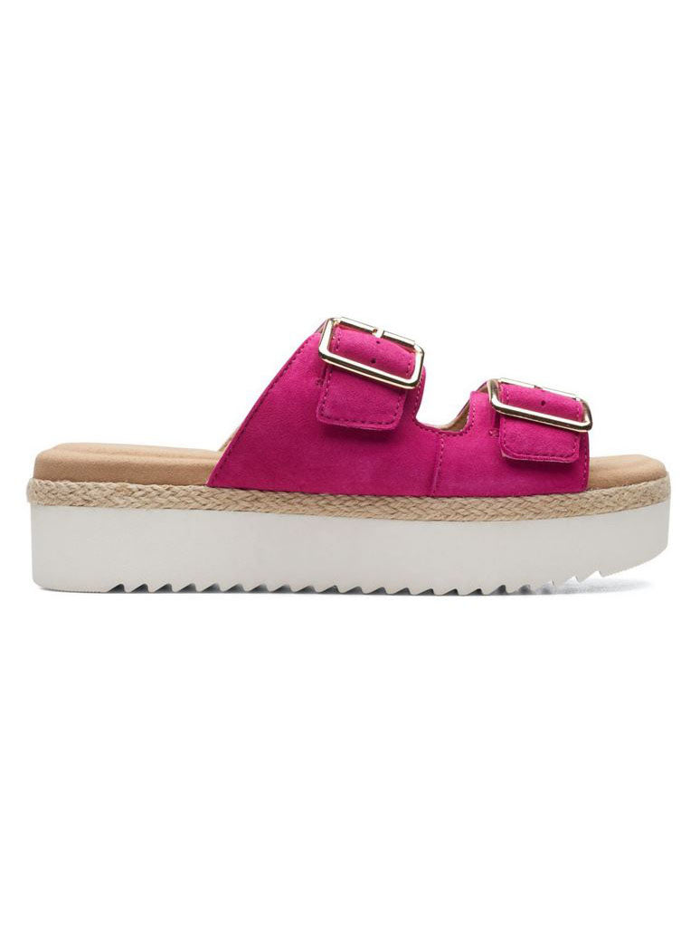 Clarks Lana Beach Flatform Sandal in Hot Pink