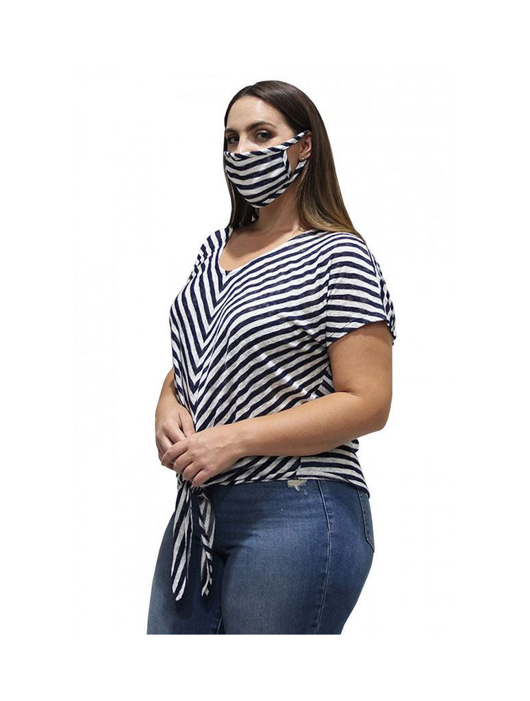 Coin 1804 Mask in Stripe Navy