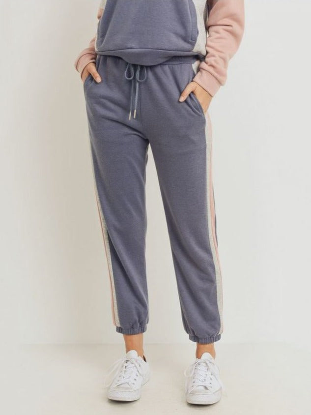 Paper Crane Block Pants in Charcoal Multi
