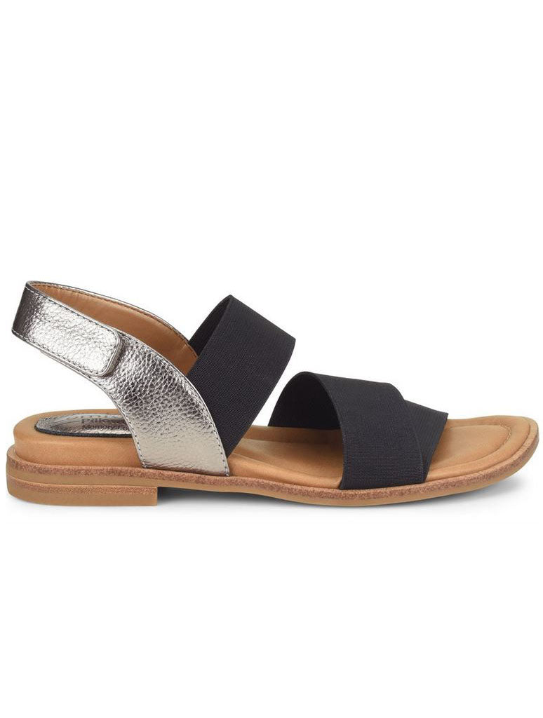 Comfortiva Dacey Sandal in Black Anthracite