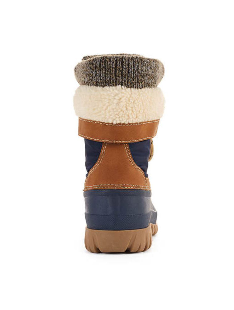 Cougar Creek Snow Boots in Navy Tan