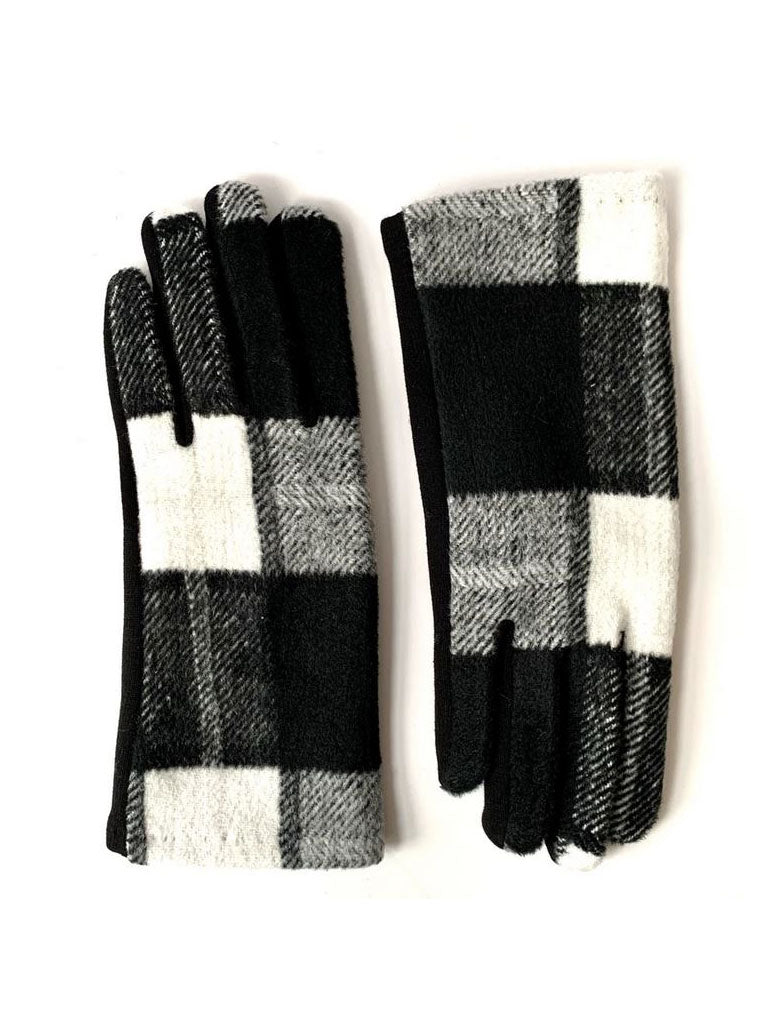CRC Plaid Gloves in Black Buffalo