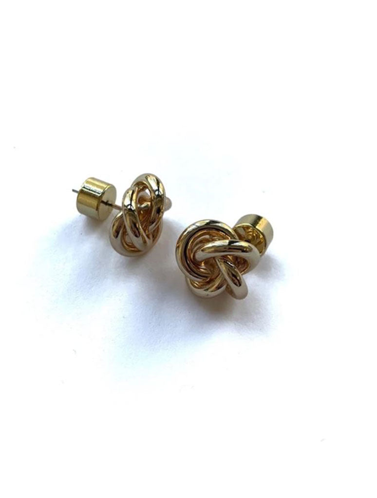 CRC Wholesale Knot Stud Earrings in Gold