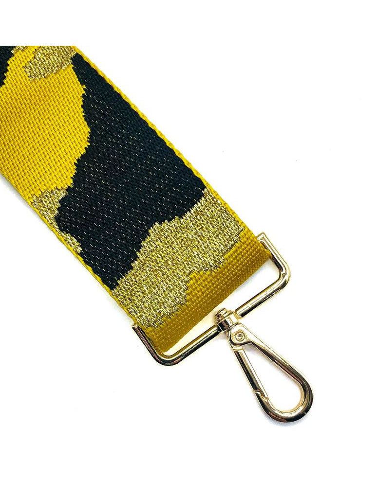 Camo Bag Strap in Yellow