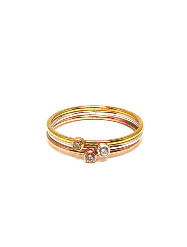 Athena Designs Dainty Stack Rings in Gold