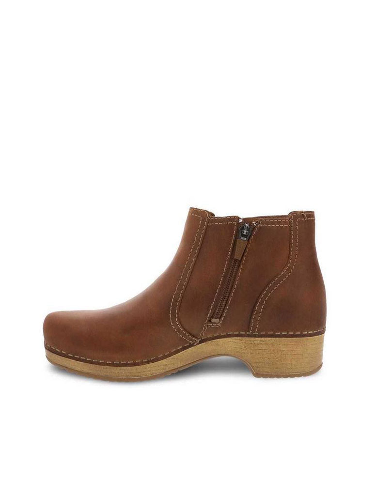 Dansko Barbara Clog Boot in Tan
