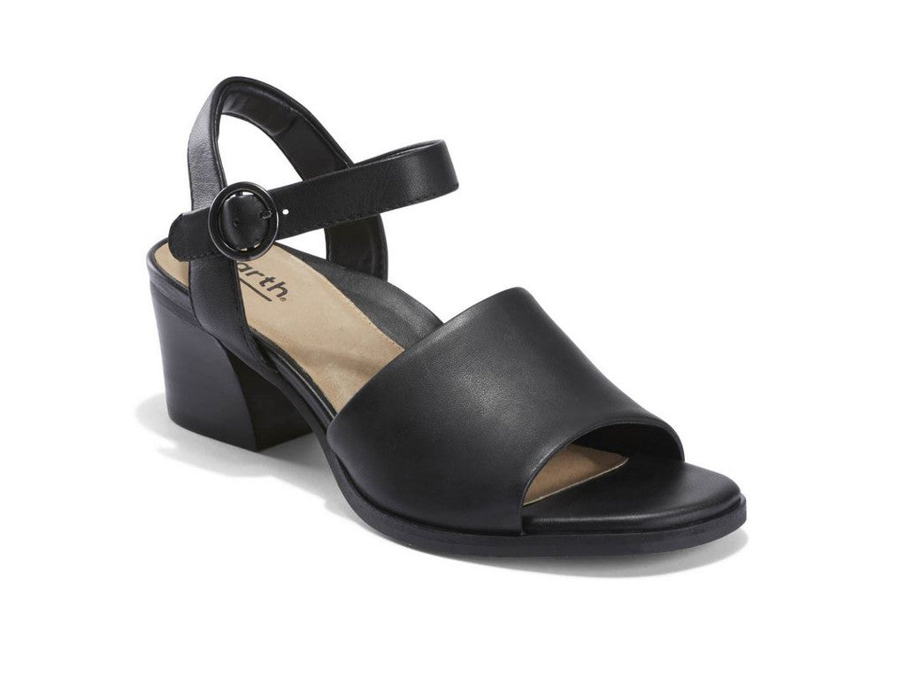 Earth Murano Haze Open Toe Sandal in Black