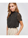Ellison Abstract Top in Black