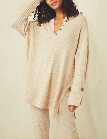 THML Fringe Sweater in Natural