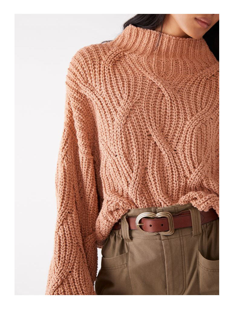 Free People Seasons Change Sweater in Almond