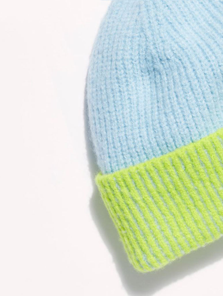 Free People Straight Chill Beanie in Sky Lime