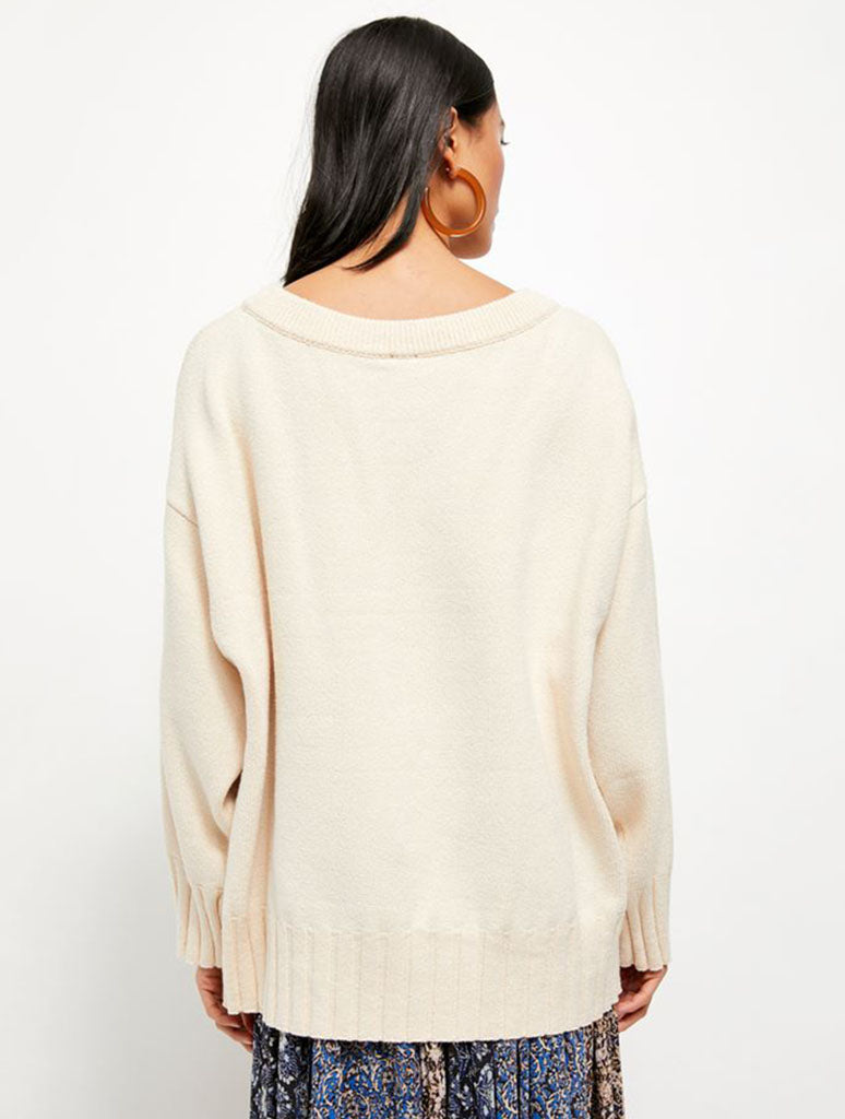 Free People Street Fair Tunic in Ivory Combo