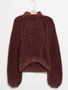 Very J Puff Sleeve Sweater in Oatmeal