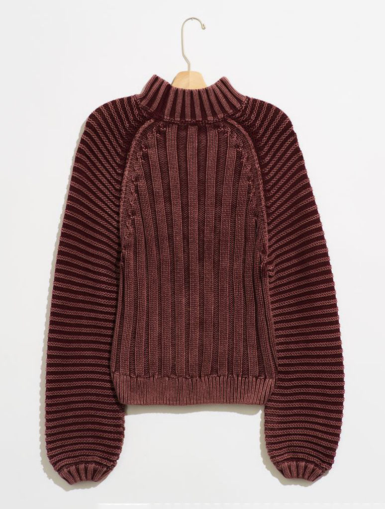 Free People Sweatheart Sweater in Garnet