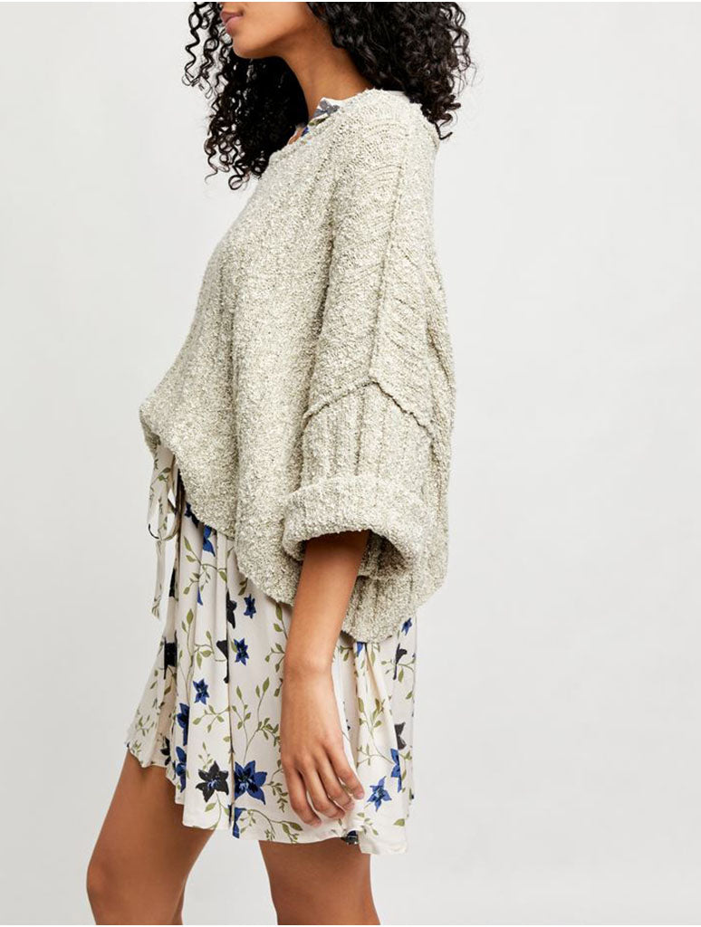 Free People Good Day Pullover in Palm