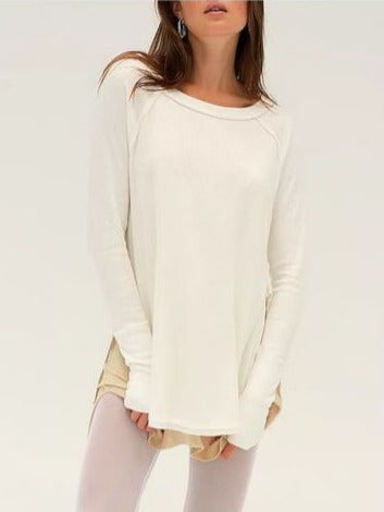 Free People Snowy Thermal Shirt in White