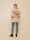 Hem & Thread Fuzzy Wrap Jacket in Taupe