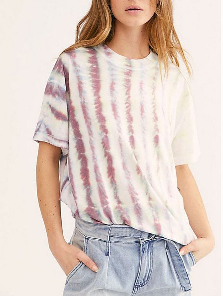 Free People Chill Spot Sport Tee in Ivory Multi