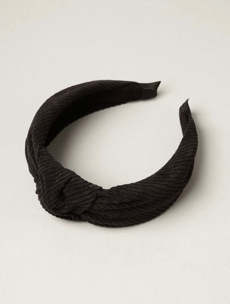 Knot Headband in Black