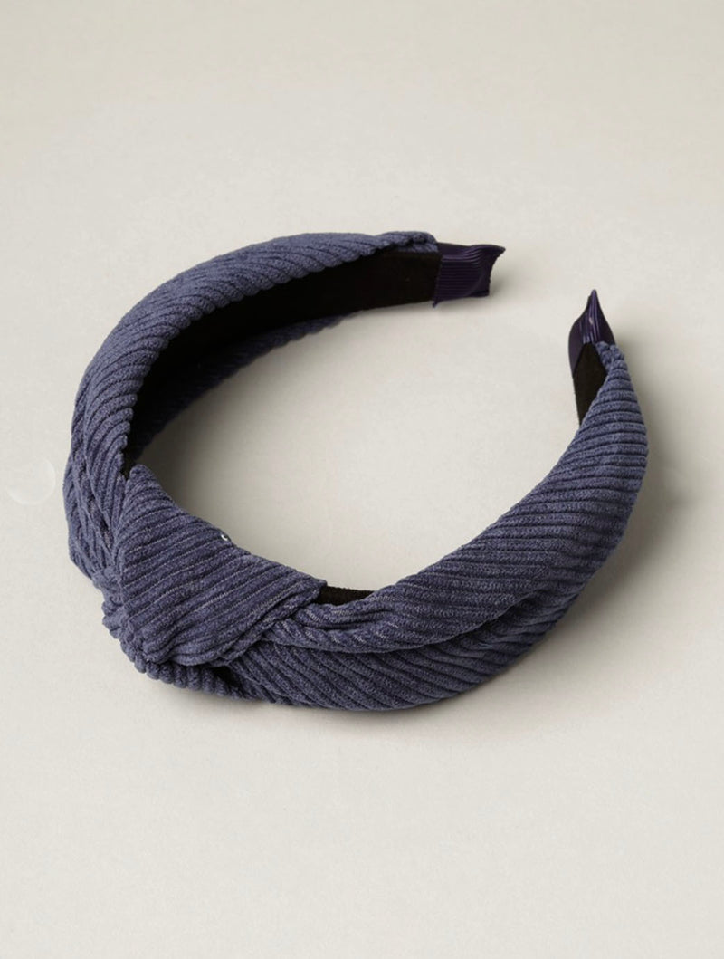 Knot Headband in Navy