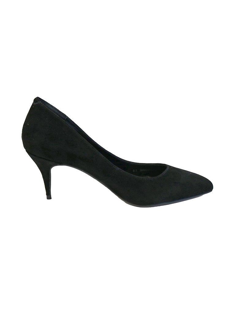 Golo Francine Black Suede Heeled Pump