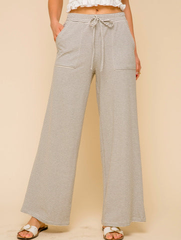 Free People Blissed Out Wide Leg Pant in Neon Peach