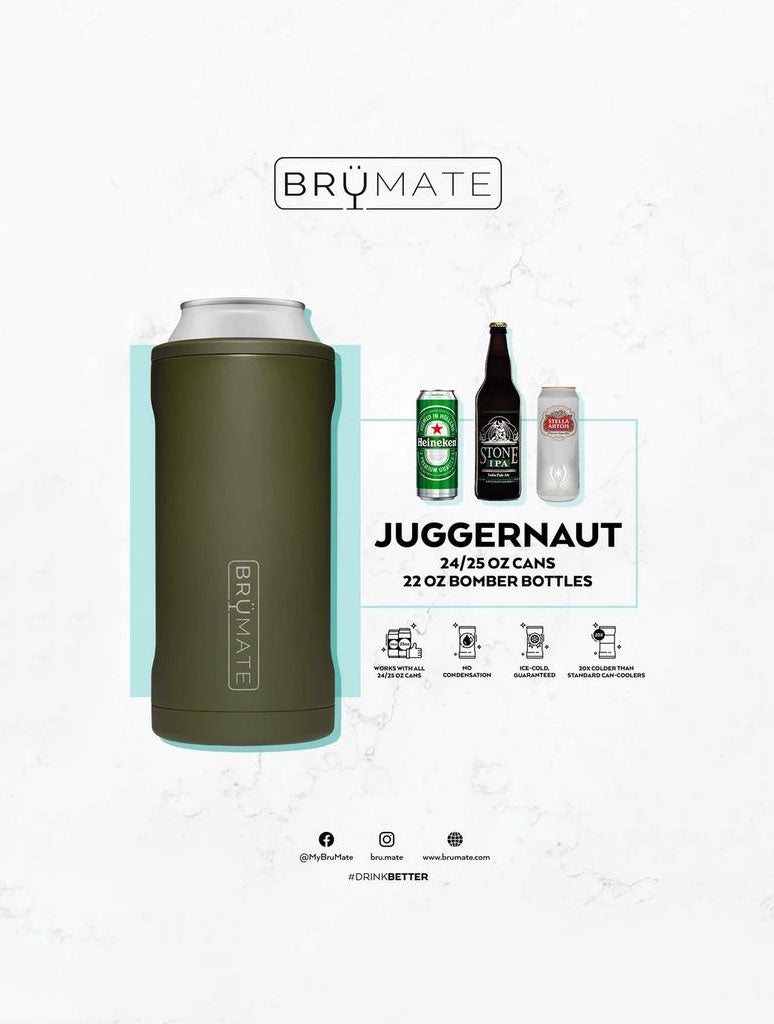 Brumate Hopsulator Juggernaut 24/25oz Cans in Stainless