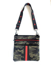 Haute Shore Brat 2 Wristlet in Camo with Red Stripe
