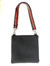Haute Shore Peyton Prep Crossbody Bag in Dark Denim/Red