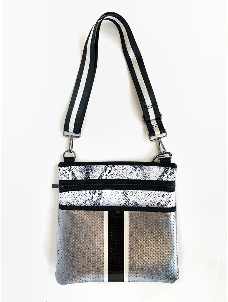 Haute Shore Peyton Fab Crossbody Bag in Metallic Python