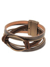 Joy Susan Oval Bracelet Brown Coffee