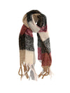 Joy Susan Color Block Scarf in Ivory Berry