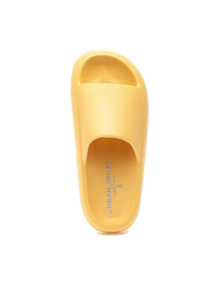 J/Slides Squeezy Slide Sandal in Yellow