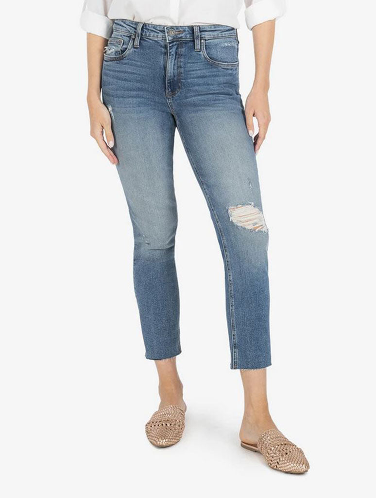 Kut Rachael High Rise Mom Jean in Noticable
