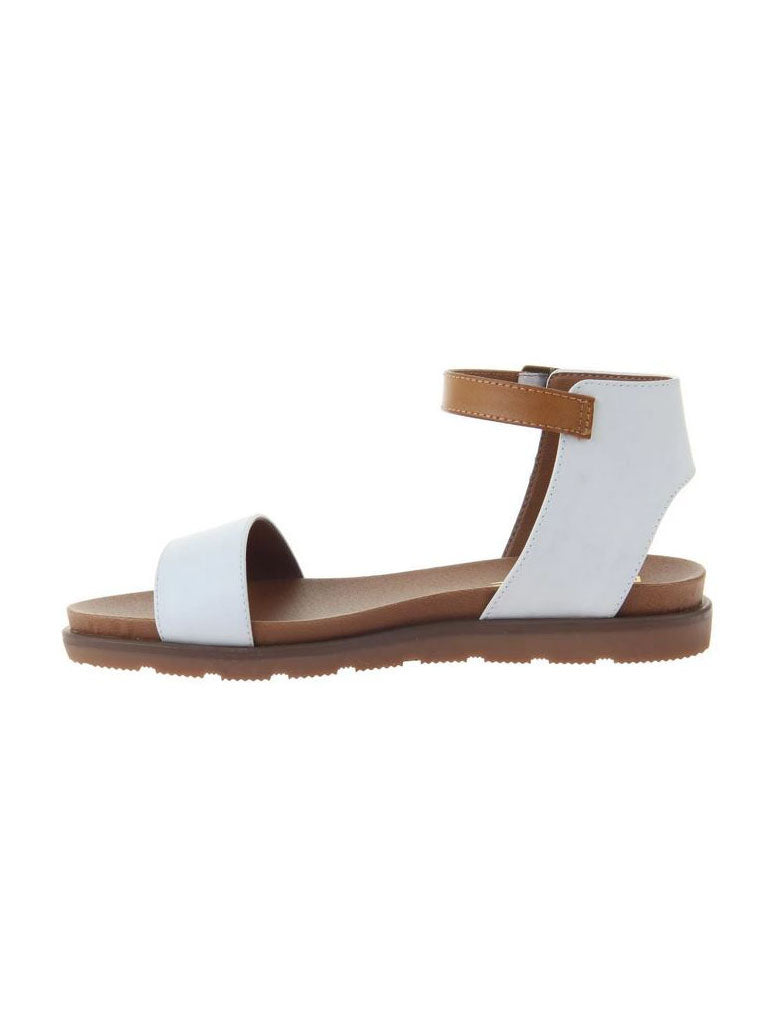 Madeline Girl Starling Ankle Strap Sandal in White