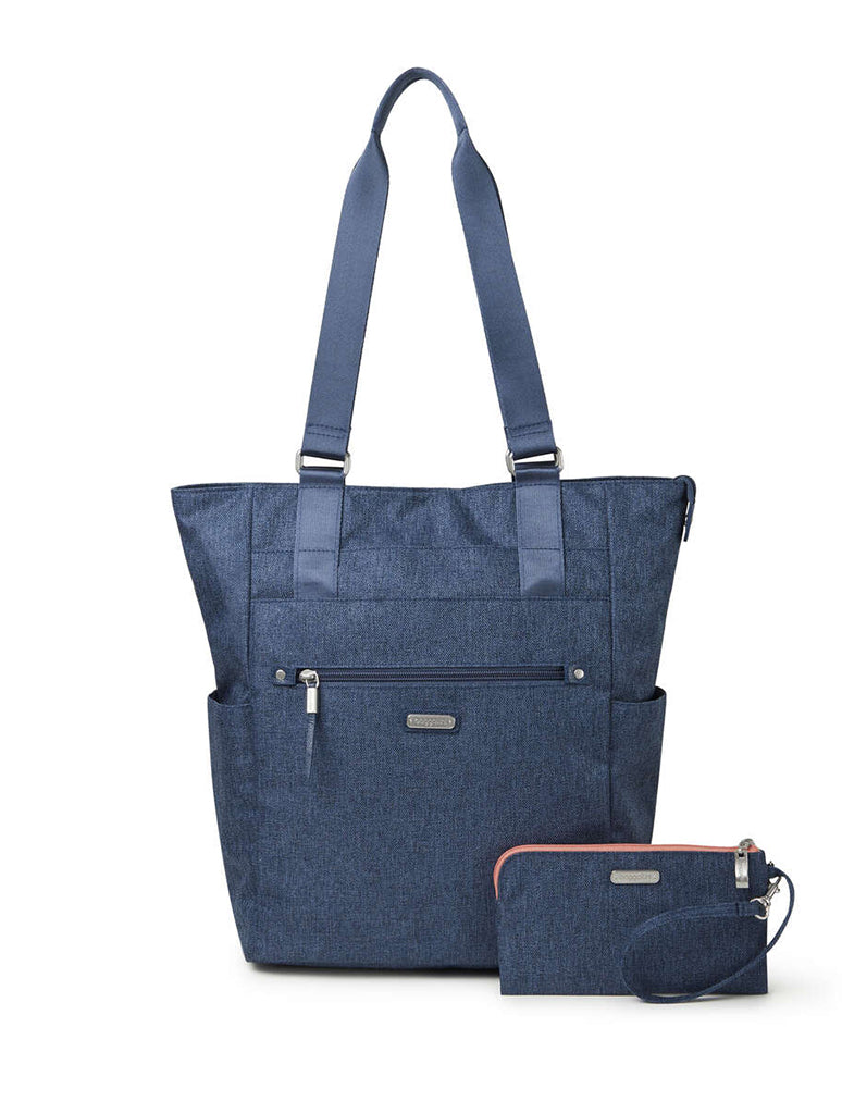 Baggallini Make Way Tote in Steel Blue