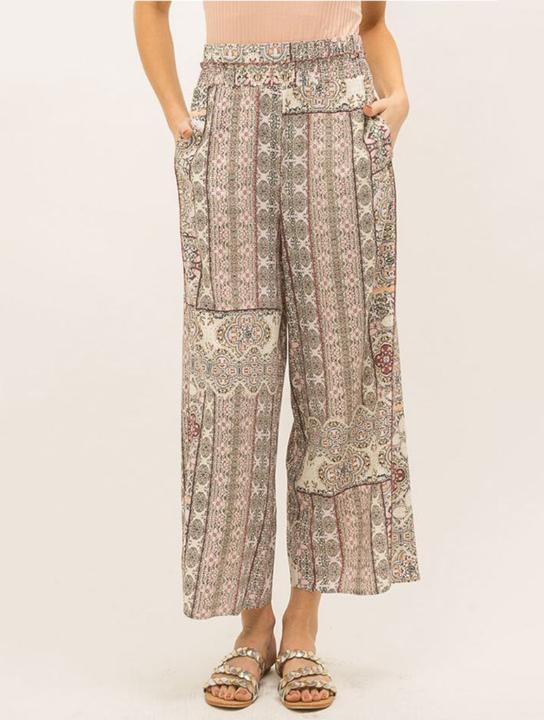 Mystree Patch Pant in Blush Mix