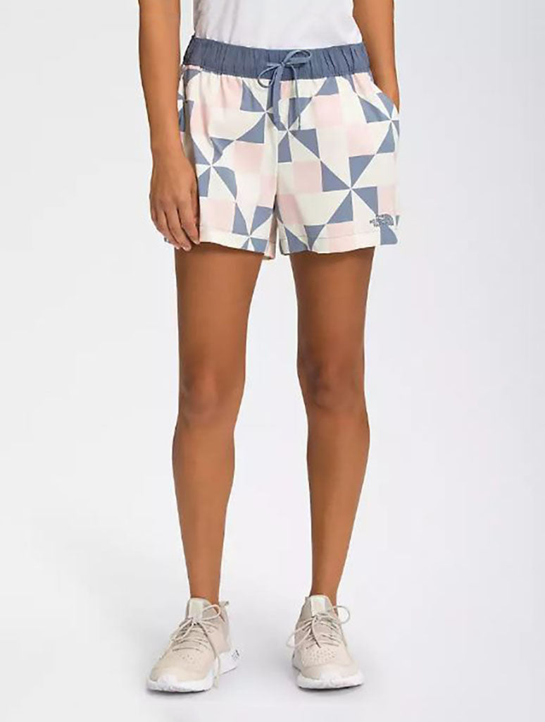 North Face Class V Short in Sand Pink Patchwork