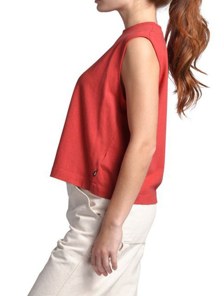 North Face Woodside Tank in Sunbaked Red