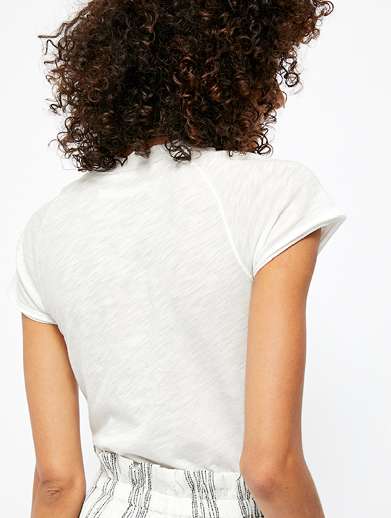 Free People Sun Valley Tee in White