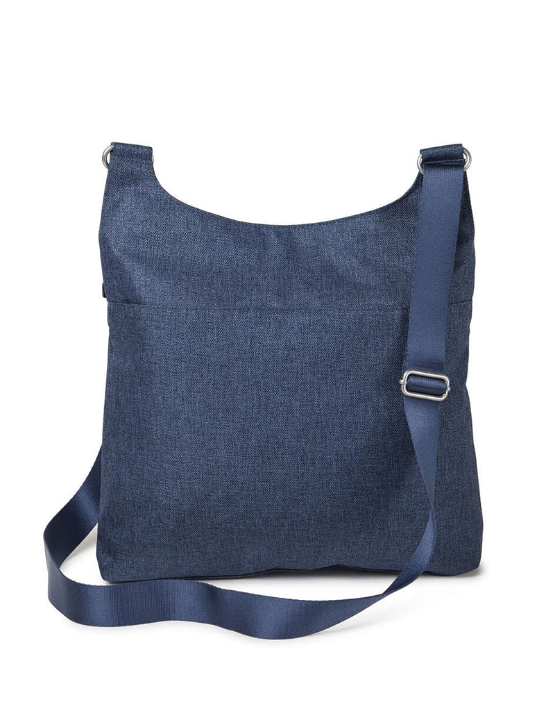 Baggallini On Track Crossbody Bag in Steel Blue
