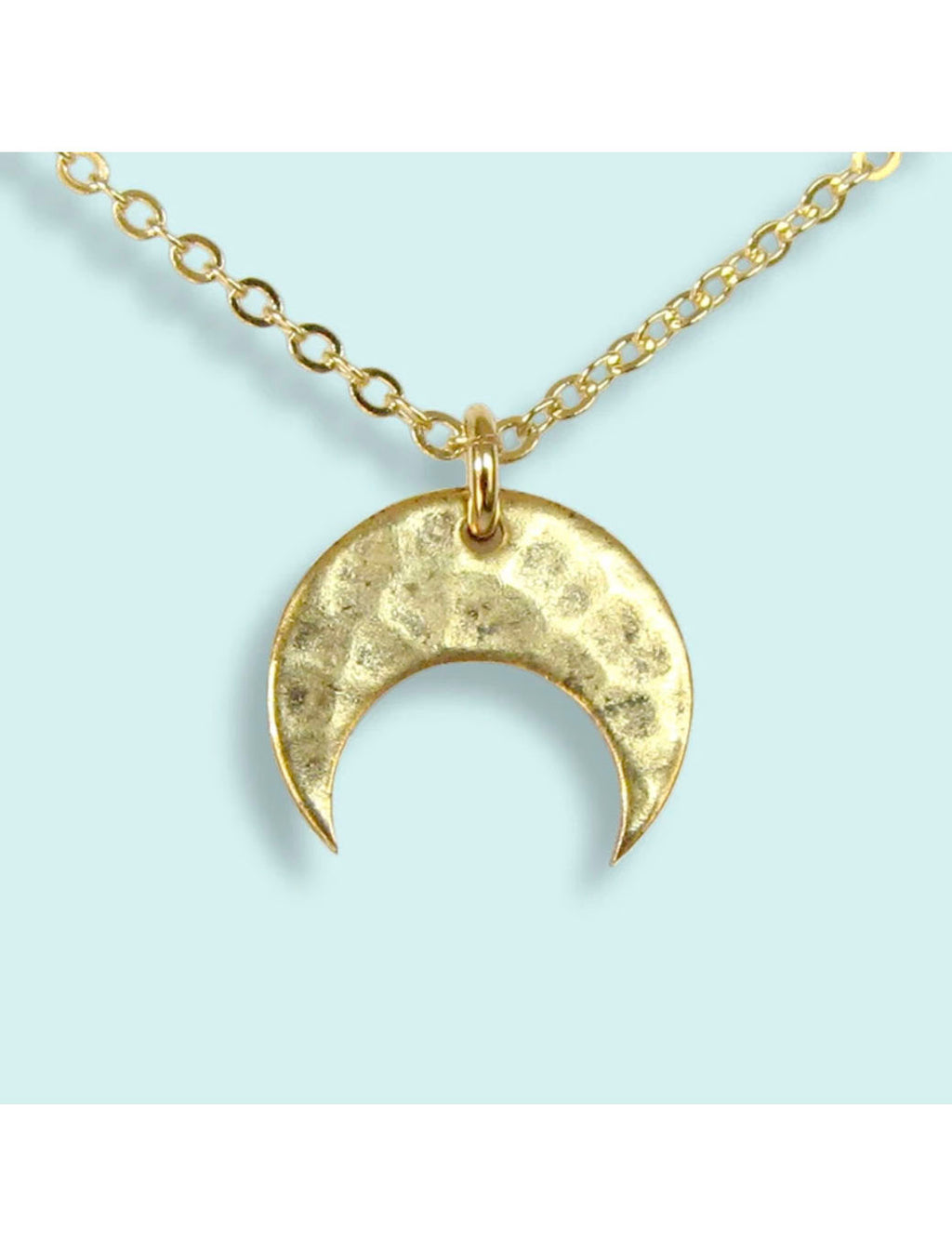 Ornamental Things Hammered Moon Necklace